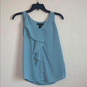 Teal Blue Flowey Shirt